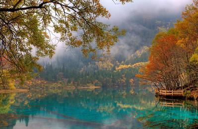 Five Flower Lake, Jiuzhaigou, China