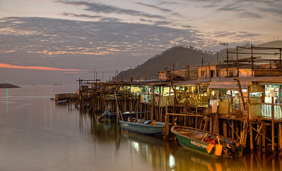 Fishing village at Tai O, Lantau Island, Hong Kong