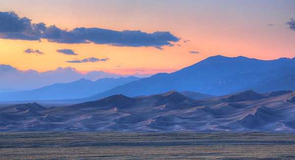 Sunrise at Great Sand Dunes NP