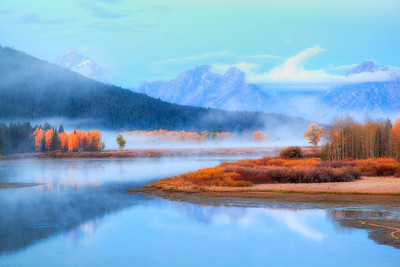 Morning at Oxbow Bend, Grand Teton