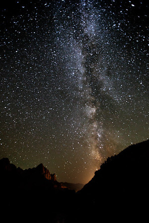 Milky Way over Watchman, Zion NP