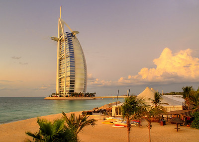 The six star Burj Al Arab hotel, Dubai