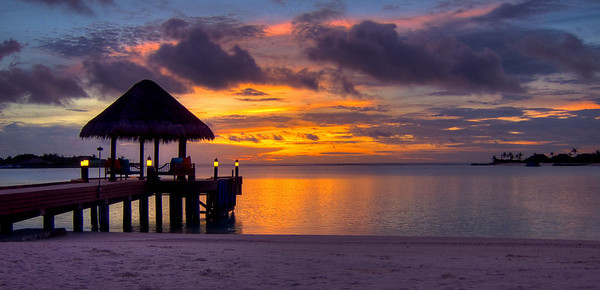 Sunrise at Maldives