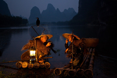 Fishermen at Li River, Guilin, China