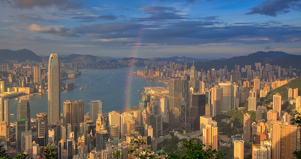 Rainbow over Victoria Harbour